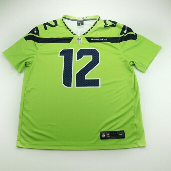 best website 73806 2cd5d Seattle Seahawks Fan 12 Color Rush Jersey XXL
